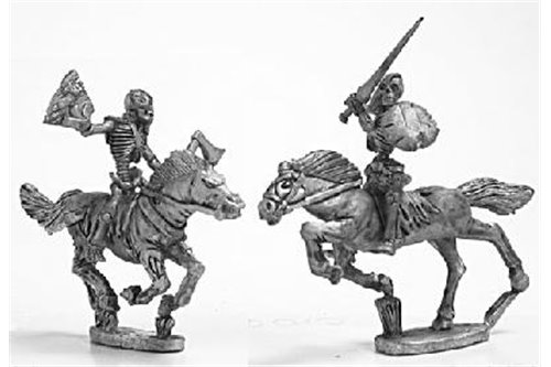Skeleton Cavalry with weapons and shield 2