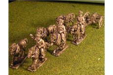 Foot Artillery Limber with 6 horses and 3 riders