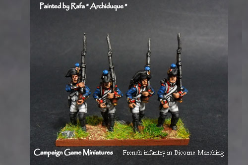 Fusiliers March Attack in Bicorne (1791-1808) Full Dress