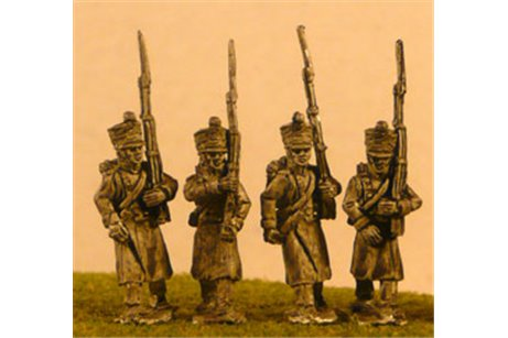 FW046 Line/Light Fusiliers in Greatcoat Marching (All Napoleonic periods) 4 variants