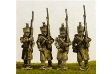 FW047 Line/Light Grenadiers/Voltiguers in Greatcoat Marching (All Napoleonic periods) 4 variants