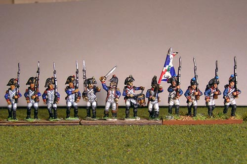 Fusiliers with Grenadier March Attack in Bicorne (1791-1808) Full Dress