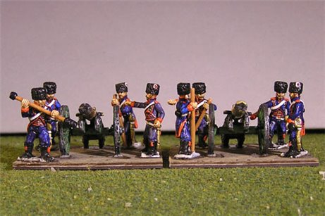 Old Guard 8lb Horse Artillery Battery with 8 Horse artillery crew
