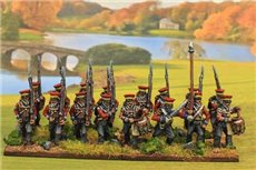 Hanover Marching in Caps (Feldmutz) with Command