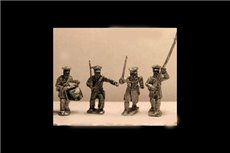 Prussian Landwehr Command Marching / Advancing (4 variants)