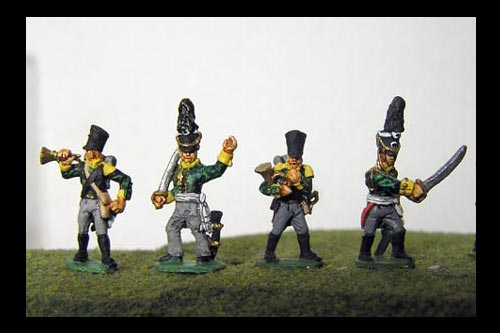 Prussian Jagers Command ( 2 different officers & 2 different musicians)