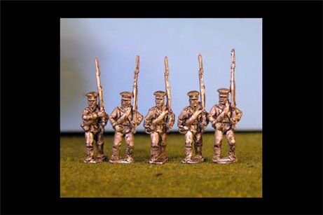 Prussian Reserve Infantry Marching in Caps x8 (all 5 variants included)