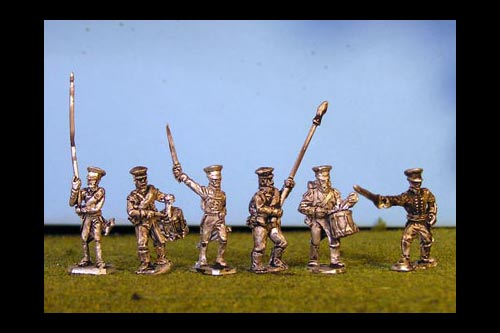 Prussian Reserve Infantry Command in Caps x8 (6 variants, )