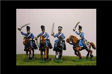 Dragoons Charging in combination of Covered & Uncovered Shako & Litewka