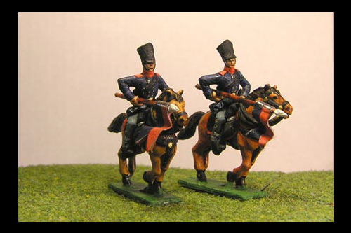 Landwehr Charging in Covered Shako & Litewka with Lance