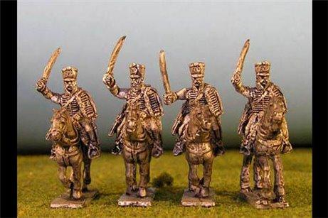 Hussars charging in shako