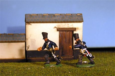 Horse Artillerymen Pushing Gun 4 fig pack
