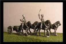 Horse artillery Limber  with 4 horses and 2 riders