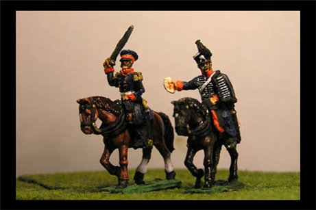 Pirch I & ADC being painted (II Corps Commander Waterloo)