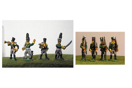 Prussian Jagers Marching with Command 12 figs