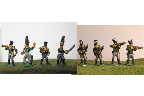 Prussian Jagers Firing Line / Skirmish with Command 12 figs