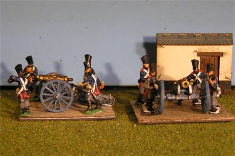 10 inch Howitzer Foot battery and 8 crew
