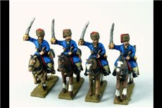 Cossacks in Colpack (Don and others) Charging with Sword x4