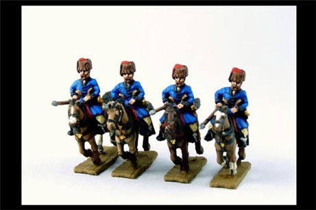 Cossacks in Colpack (Don and others) Charging with Lance x4 (separate lances)