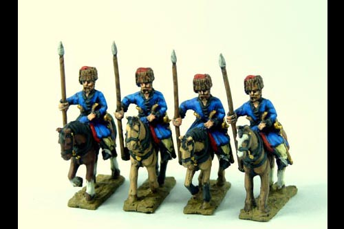 Cossacks in Colpack (Don and others) Lance upright x4 (fixed lances)