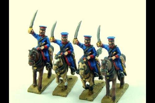 Cossacks in Cap Charging with Sword (Ural, Don or others) x 4