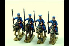 Cossacks in Cap with Lance Upright  (Ural, Don or others) x 4 (Fixed lances)
