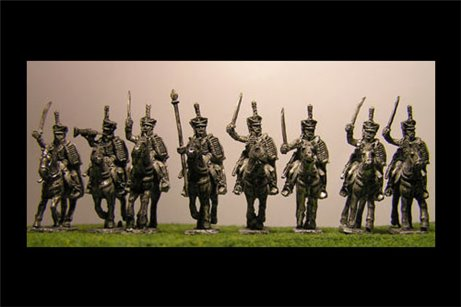 Hussars Charging with Command x 8 figures