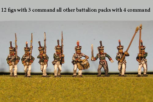 Grenadiers / Guard Marching with Command 12 figs