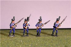 Light Infantry Advancing 1800-1807. Side plume, hussar gaiters.