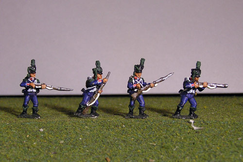 Light Infantry Firing Line/Skirmish 1800-1807. Side plume, hussar gaiters.