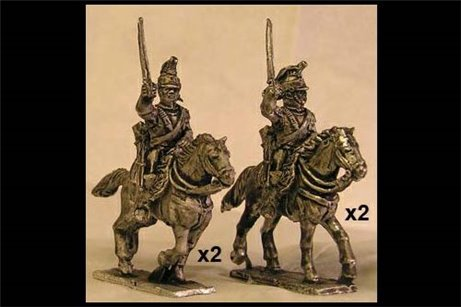 French Cuirassiers Charging 2 (x4)