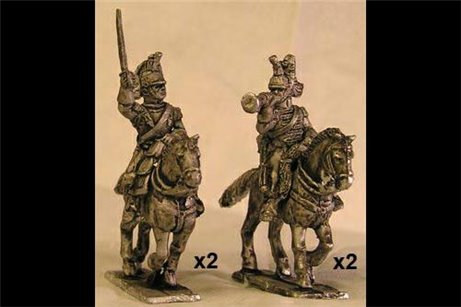 French Cuirassiers Command Charging (x4)