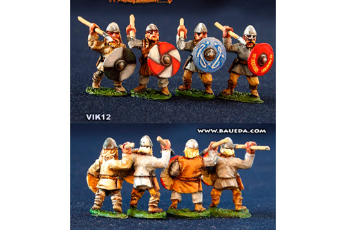 Viking Spearmen Shieldwall charging