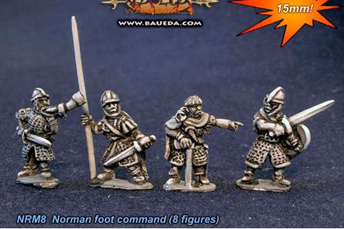 Norman foot command (8 figures).