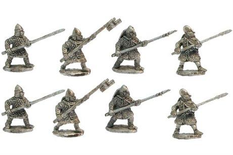 Heavy infantry, spear forward XII century