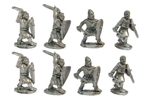 Light infantry with swords, axes, etc., XII cent