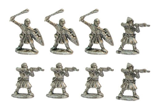 Crossbowmen and slingers, XII cent.