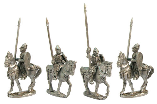 Heavy Cavalry walking horses. XII Cent.