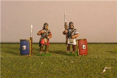 Legionary Standing, includes pilums and shields.