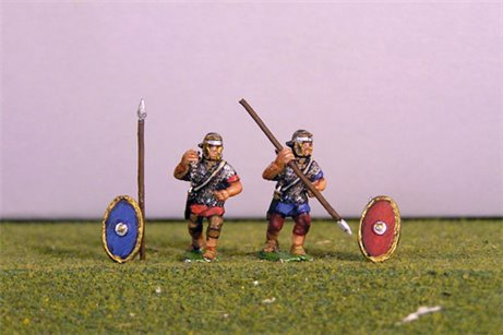 Auxiliary Throwing Spear. Separate spears and shields included.