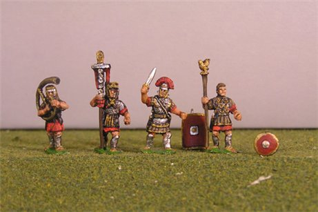 Imperial Roman Command set including shields.