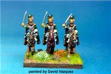 Italian Queen's (Regina) Dragoons Charging x4