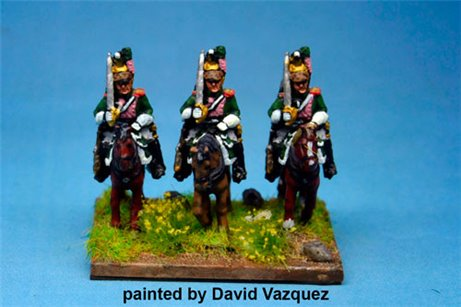 Italian Queen's (Regina) Dragoons At Rest x4