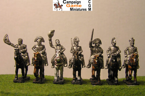 Napoleon, 4 Marshals & 2 ADCs mounted