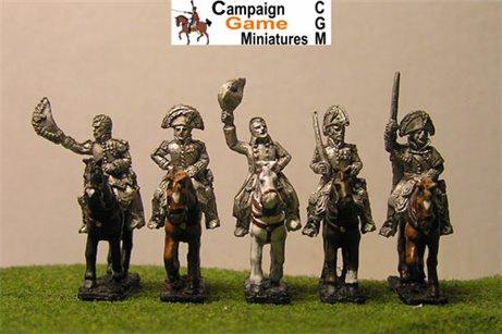 Napoleon, 4 Marshals &mounted