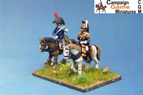 Cuirassier Brigade General with ADC