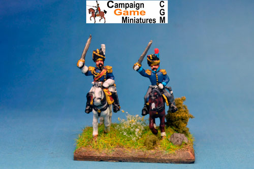 Cavalry General in Busby with Colonel in Busby