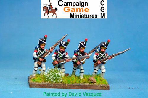 Italian Guard Velite Grenadiers (Veliti Reale) Advancing.