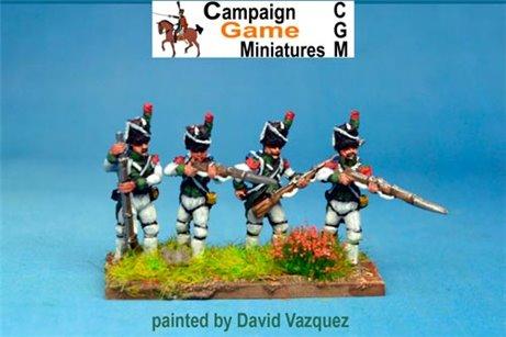 Italian Guard Velite Chasseurs/Carabinier (Veliti Reale) Firing Line