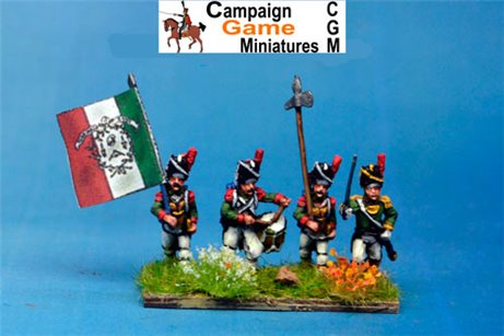 Italian Guard  Grenadiers (Reale) Command Marching/Advancing